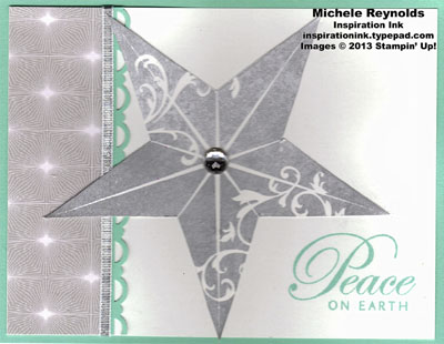 Christmas star peaceful silver star watermark