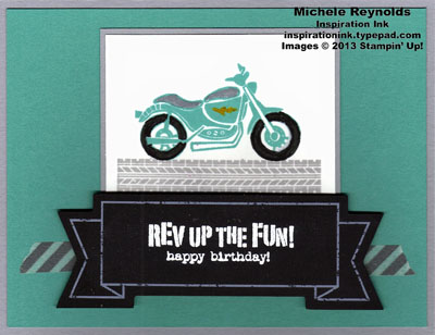 Rev up the fun banner motorcycle watermark