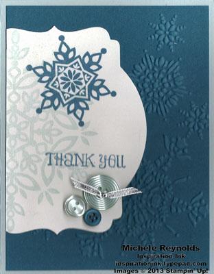 Festive flurry snowflake thanks watermark
