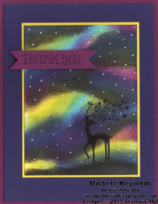 Best of christmas northern lights deer watermark