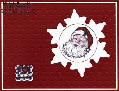 Best of christmas i love santa snowflake watermark
