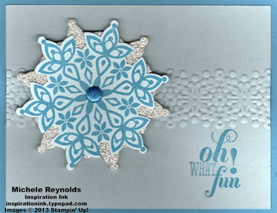 Festive flurry what fun sparkly snowflake watermark