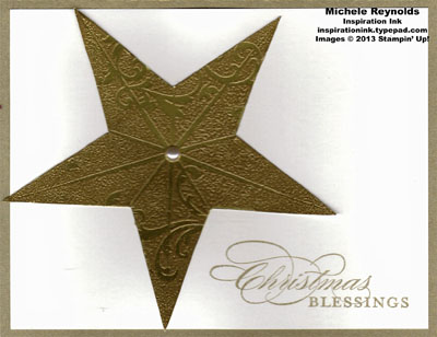 Christmas star gold star blessings watermark