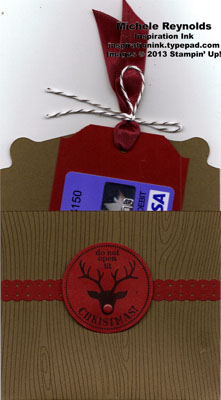 Very merry tags reindeer gift card pouch watermark
