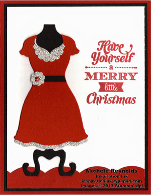 Merry little christmas mrs claus dress watermark