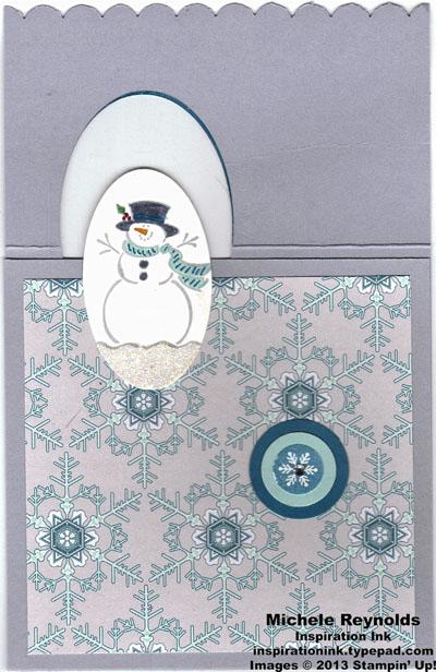 Best of snow flip snowman card top flap open watermark