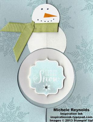 Best of snow flip snowman card watermark