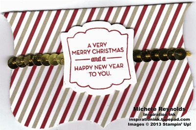Christmas tagables sequined folded tag watermark
