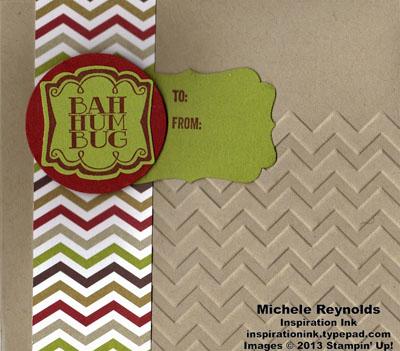 Very merry tags chevron bah humbug envelope watermark