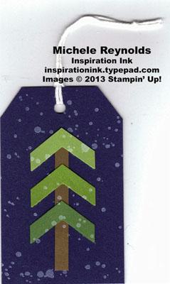 Gorgeous grunge chevron tree tag watermark