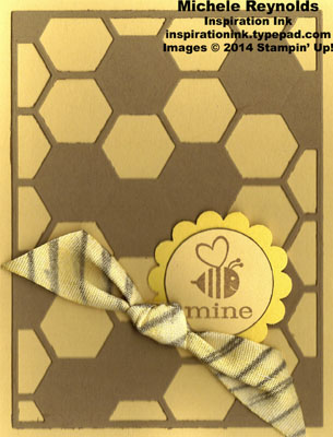 Crazy mixed up love bee striped ribbon watermark