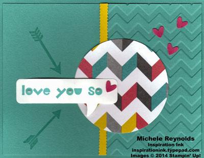 Geometrical love you so chevrons watermark