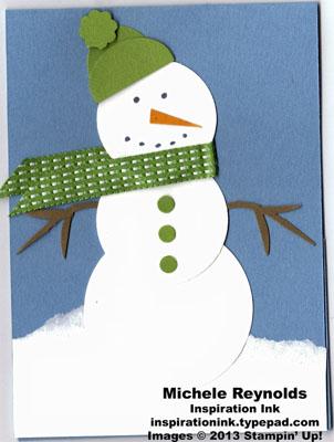 Bird builder punch snowman gift card holder watermark