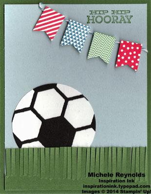 Banner blast hooray for soccer watermark