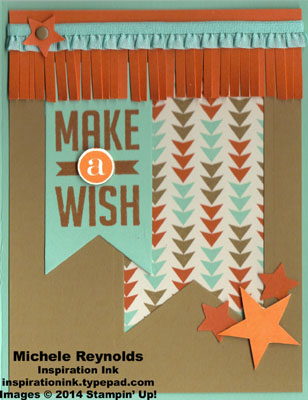 Perfect pennants fringed star wish watermark