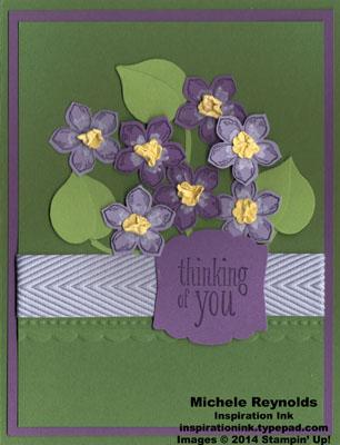 Petite petals violet bunch watermark