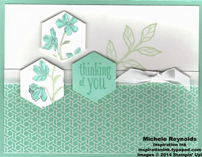 Peaceful petals hexagon thoughts watermark