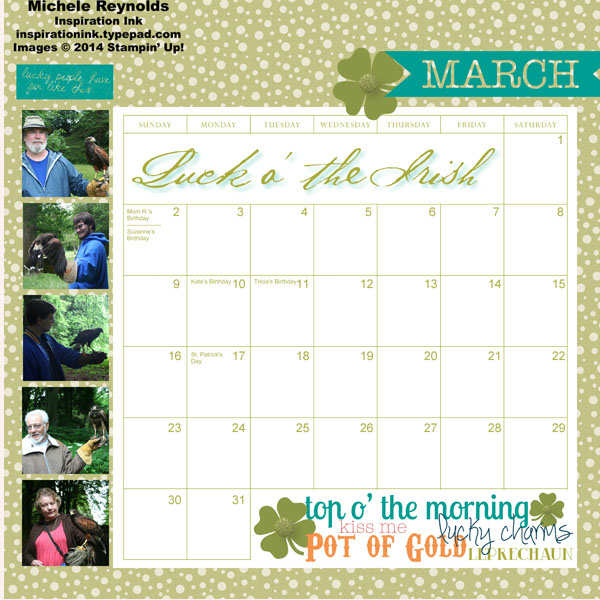 March calendar page 2