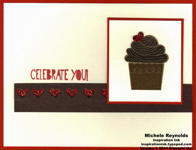 Cupcake party celebrate you with chocolate watermark