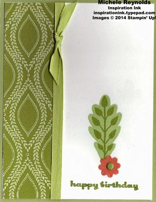 Flower patch leaf birthday watermark