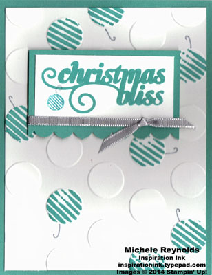 Christmas bliss scattered stripe circles watermark
