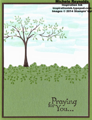 Thoughts & prayers bordered tree watermark