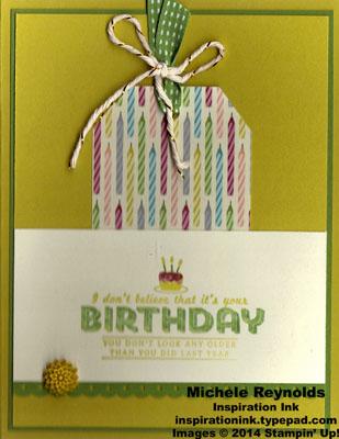 See ya later birthday candles tag watermark