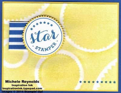 Star stamper spritzed starbursts watermark
