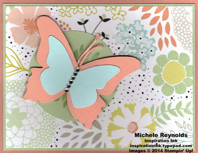 Petal parade pastel butterfly watermark