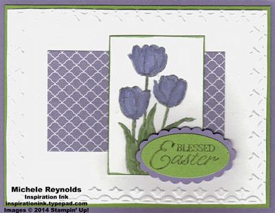 Blessed easter simple tulips watermark