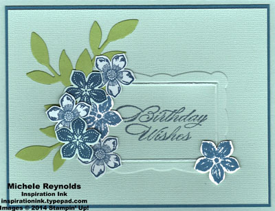 Petite petals flower framed birthday wishes watermark