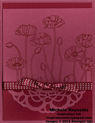 Pleasant poppies raspberry lace watermark