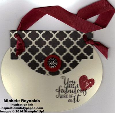 Work of art purse card watermark