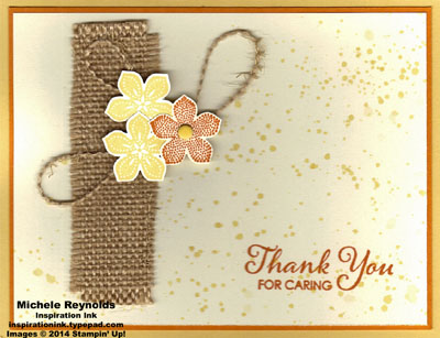 Petite petals burlap and splatters watermark
