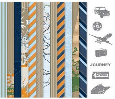 Travel journal digital kit