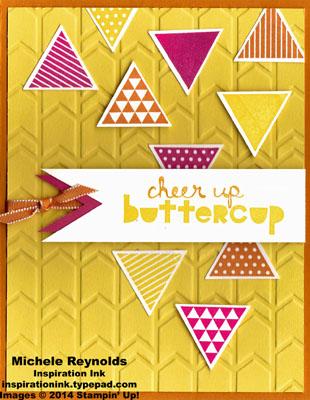 Geometrical cheer up triangles watermark