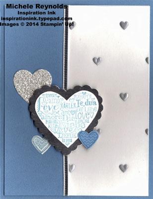 Language of love silver marina hearts watermark