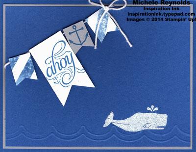Hello sailor whale ahoy banner watermark