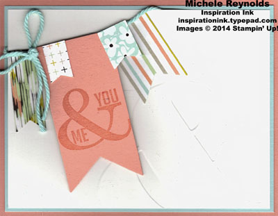 Perfect pennants ampersand banners watermark