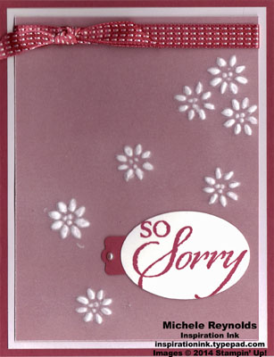 So sorry scattered embossed vellum flowers watermark