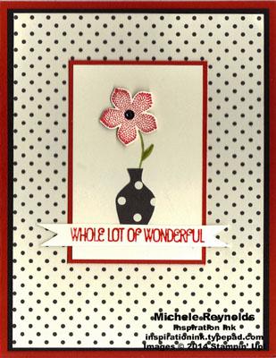 Petite petals modern dots watermark