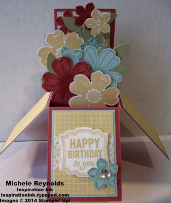 Flower shop card in a box watermark