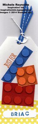 Work of art lego tag watermark