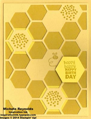 Honeycomb hello beehive birthday watermark