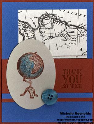 Traveler antique globe thanks watermark