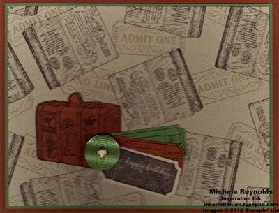 Traveler suitcase collage watermark