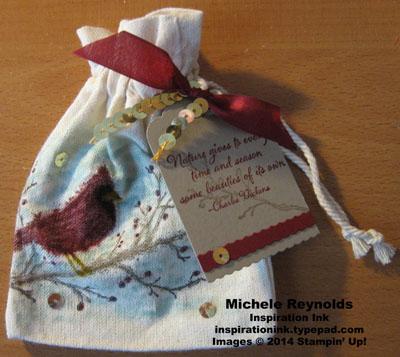 Beauty of the season muslin bag watermark