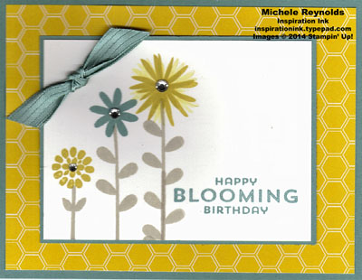 Flower patch flower trio birthday watermark