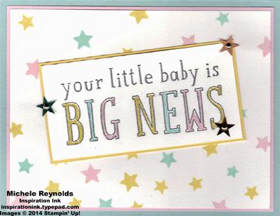 Big news pastel stars baby news watermark