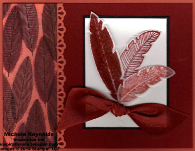 Four feathers cherry and calypso feathers watermark